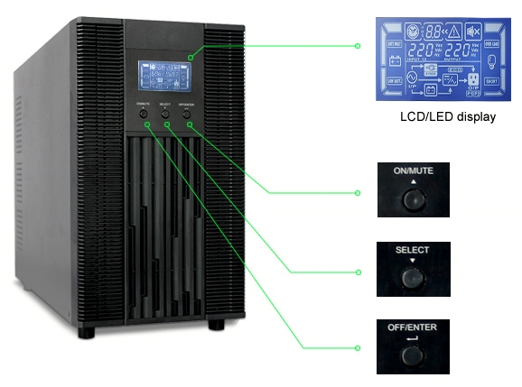 UPS KwpoweR online 3000VA / 2700W Tower p.f. 0.9